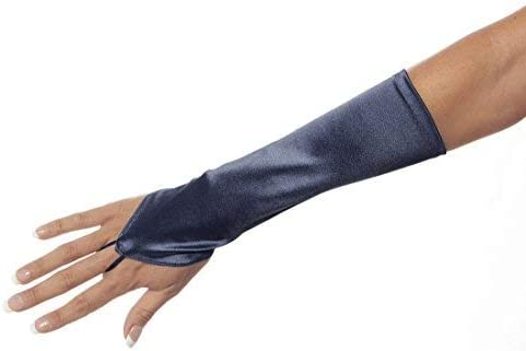 Cinderella Satin Fingerless Elbow Length Gloves