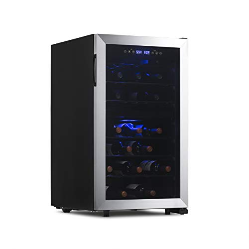 NewAir NWC043SS00 Free Standing Wine Cooler, 43 Bottle, Stainless Steel