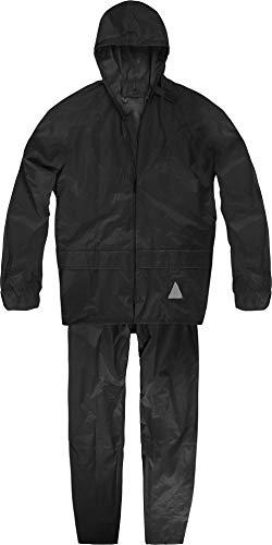 normani Unisex - Erwachsene Regenanzug (Jacke und Hose) - 100% wasserdicht Farbe Schwarz Größe XL