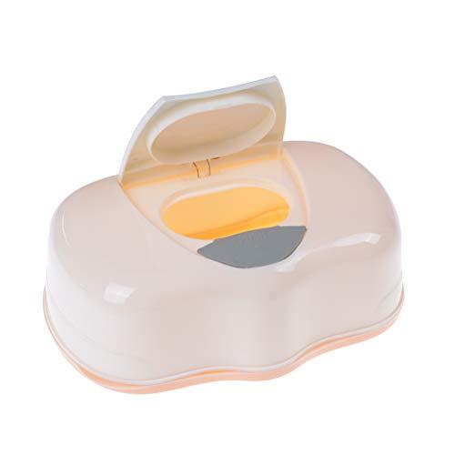 Meijin Caja de toallitas húmedas de plástico para toallitas húmedas, caja de toallitas de bebé, caja automática, diseño pop-up caja de pañuelos color aleatorio 200 x 120 x 80 mm
