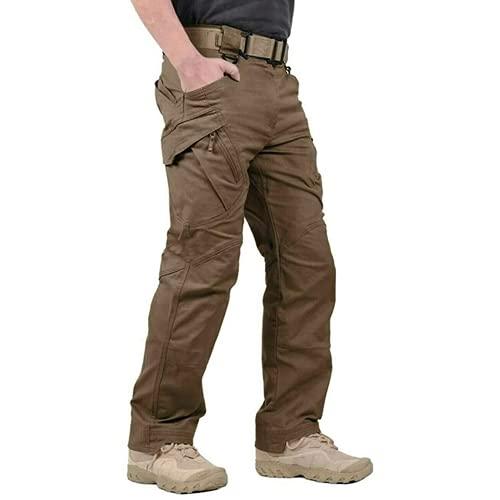 LELEBEAR 2021 Upgraded Tactical Waterproof Pants, Men's Water Repellent Ripstop Tactical Cargo Pants for Combat Hiking...