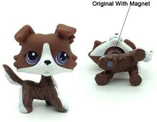 Littlest Pet Shop Rare Brown Collie Dog with Purple Eyes Puzzle #NO LPS