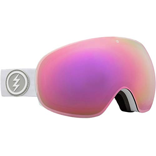 ELECTRIC MASCHERA DA Snowboard EG3 Matte White Lens Brose PINK Chrome