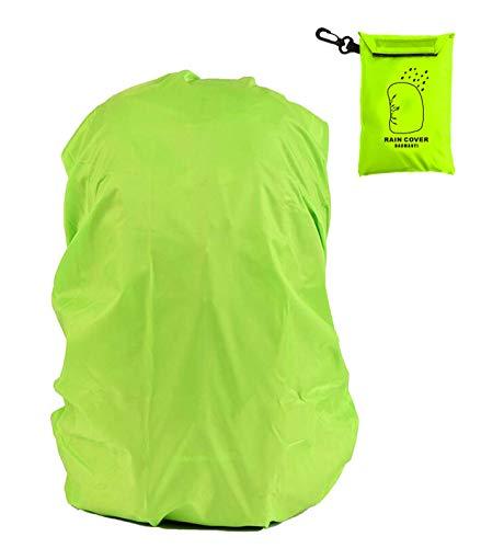 BAOMANYI Regenschutz für Rucksack,Rucksack Herren Regenschutz Rucksack (8-35L) Regenschutz Schulranzen Wasserschutz Regenhülle für Outdoor Camping Wandern Radfahren Grün