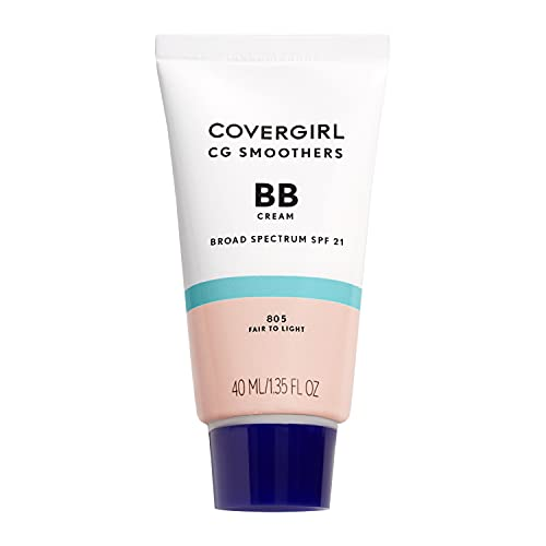 COVERGIRL Smoothers Lightweight BB Cream, Fair to Light 805, 1.35 oz (Packaging May Vary) Lightweight Hydrating 10-In-1 Skin Enhancer with SPF 21 UV Protection
