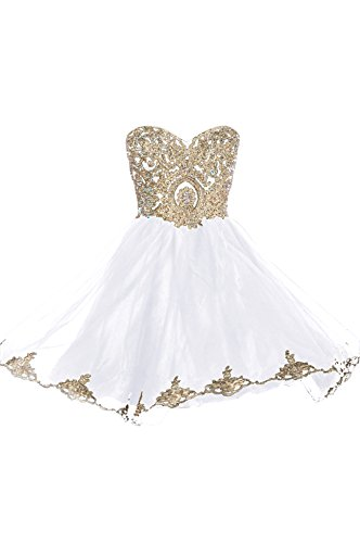 Prom Dresses Short Lace Prom Homecoming Dresses Affordable Beautiful Sparkly Dress, Color White,20W