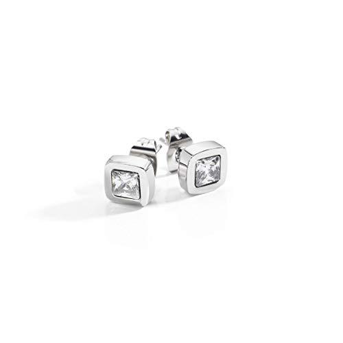 Sector No Limits Boucles d'oreilles pour femme, Collection SHARP Sector Jewels, longueur 7,2 cm, en acier et cristaux - SACZ01
