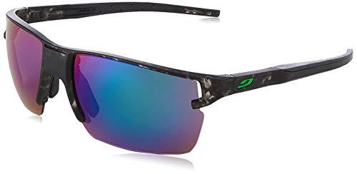 Julbo Unisex Outline Sonnenbrille, Grau Schildpatt/Grün, Einheitsgröße