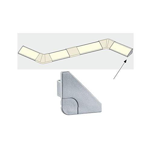 Paulmann 70266 Delta Profil Cap für den sauberen Profilabschluss 2er Pack Delta Profil Zubehör Alu matt Kunststoff für LED-Strip Fußleisten