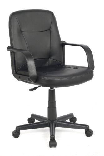 SixBros. Bürostuhl Drehstuhl Schreibtischstuhl Schwarz H-8365L-2/1323