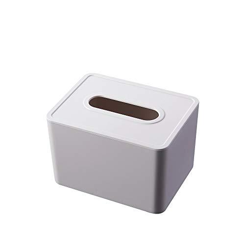 Heigmzzjh - Porta asciugamani di carta, 1 contenitore per cucina, camera da letto, bagno, dimensioni: 21,5 x 10 x 12,6 cm, colore: bianco
