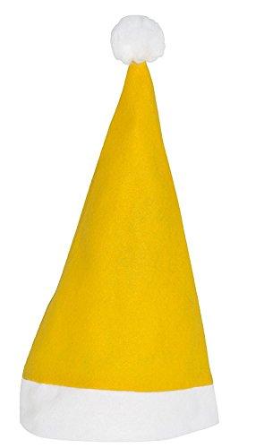 Gorro de Papá Noel de Bicap, color amarillo