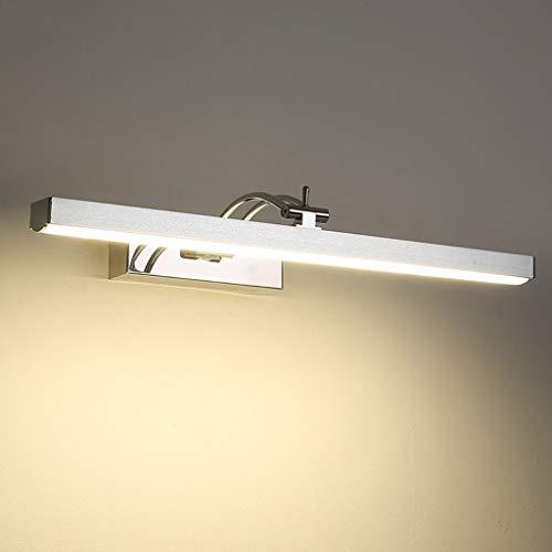 Spiegellamp voor badkamer, led-spiegelverlichting voor spiegelkasten, moderne badkamer, make-up verlichting voor badkamer, mistverlichting, waterdicht, met LED-verlichting, LED-spiegellamp (warm wit, 58 cm)