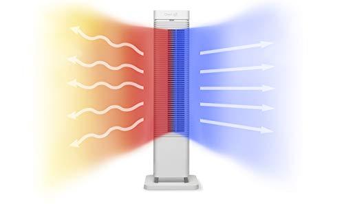 2in1: Design Heizlüfter Clean Air Optima® CA-904W - Heizen und Kühlen: Heizung: 1000/2000 Watt - Digitaler Thermostat 15-35°C - Oszillation 80º - Staubfilter - Geeignet für Räume bis 40 m² / 100 m³
