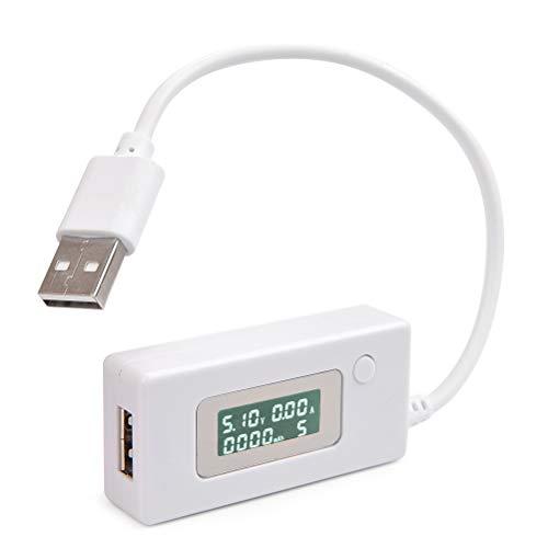 YOTINO USB Digitale Amperemeter Multimeter Digitale Voltmeters Tester Detektor für Spannung/Strom/geladene Kapazität