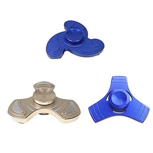 3 Piezas Finger Spinner, , Alambre de Metal Spinner de Mano Juguete de Enfoque de Alta Velocidad Cojinete Suave y silencioso Giroscopio,para Spinners Focus Alivia El Estrés ADHD Finger Spinne (A)