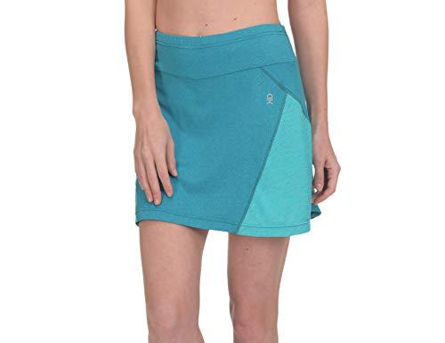 Little Donkey Andy Falda de golf atlética para mujer con bolsillos cortos que absorbe la humedad UPF 50+, Large, Azul/Azul Claro