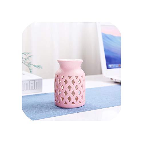 dudifeng chinesische Bunte Keramik-Blumenvasen Tisch-Mini-Vase für Wohnzimmer, Dekoration für Hochzeit, Büro, Hotel, Pink 1