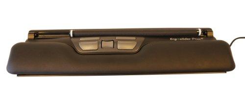 R-GO Tools Ergoslider Plus Maus (USB, 800DPI, vertikal, Schwarz, einfarbig, Kabel)