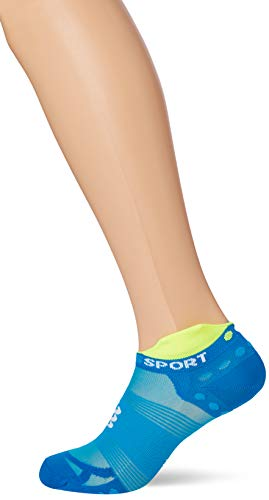 Compressport - Calcetines Running Bajos Ultralight V3 [compressport] - T2, Blue Fluor