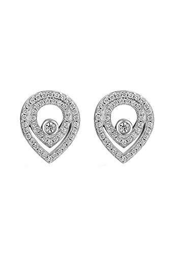 JETTE Silver Damen-Ohrstecker 925er Silber 96 Zirkonia One Size 87633624