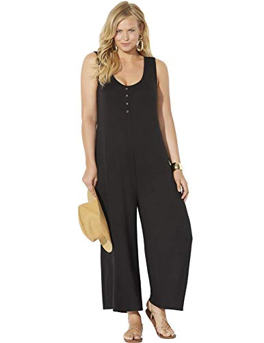 Swimsuits For All Women's Plus Size Isla Jumpsuit 14/16 Black