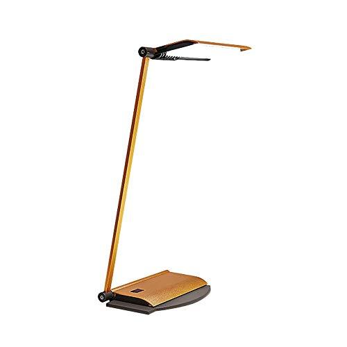 PLLP Lámpara de escritorio plegable, Led Eye Usb regulable Lámpara de mesa para estudiantes ajustable para aprendizaje Oficina Dormitorio Mesita de noche Escritorio de lectura Interruptor de atenuaci