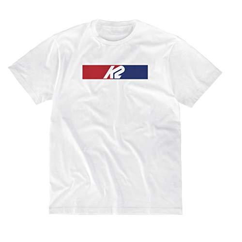 K2 Snow Unisex– Erwachsene K2 RWB Brick Tee White T-Shirt, S, 20D2500.1.1.S