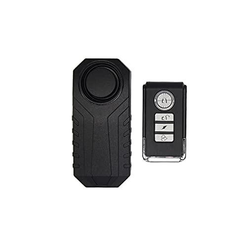 KKmoon Alarma de Vibración Inalámbrica 113dB Alarma Antirrobo para Bicicleta/Motocicleta/Automóvil/Vehículos Sensores de Seguridad a Prueba de Agua Alarma de con Control Remoto