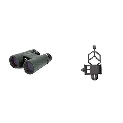 Celestron 71333 Nature DX 10x42 Binocular (Green) with Basic Smartphone Adapter 1.25'