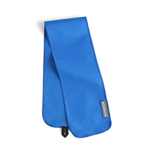 Mission Fever Relief Cooling Towel- Instant Cooling Relief, Cools When Wet, Reusable, Machine Washable, Adjustable Loop to Secure Around Forehead- Electric Blue Lemonade