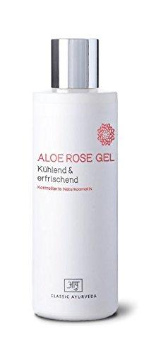 Classic Ayurveda – Aloe Rose Gel, 1er Pack (1 x 200 ml – Cosmétique naturel Bdih contrôlée