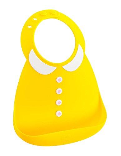 メイクマイデイ 油が落ちるシリコンビブ 日本正規品 食洗機で洗える シリコン100%のやわらかビブ 6ヵ月~3歳 BB119 ガーリーイエロー