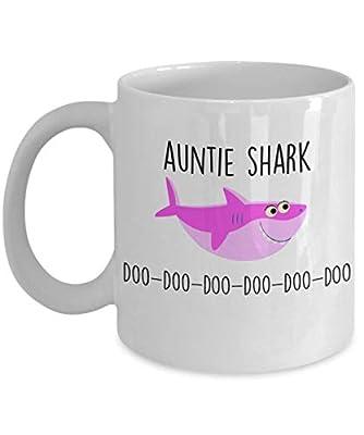 Auntie Shark Doo Doo Doo Mug Shark Birthday Gift Aunt Sister Shark Family Shark