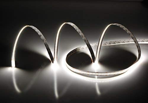 Rouleau de 5 mètres ruban 1500 LED 2216 SMD lumière unie au choix 5 m 24 V DC avec adhésif double face 3 m CRI 95+ Modèle Premium (6000 K lumière froide (blanc)