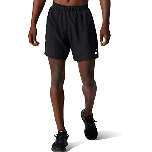 ASICS Hombre 7IN Pantalones Cortos Deportivos Reflectante Negro L