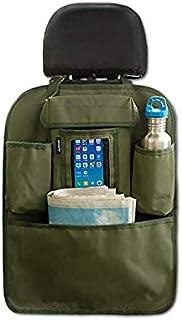 ARMORO Canvas Car Back Seat Multi Pocket Storage Organizer Holder (Olive)