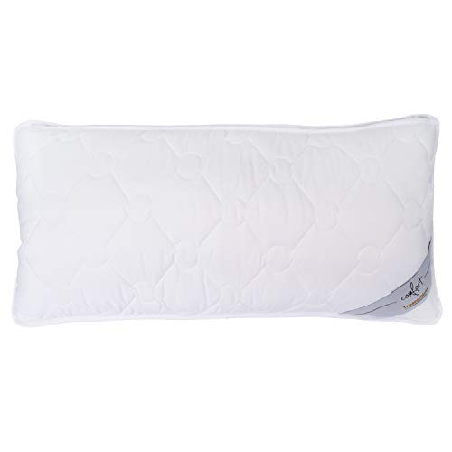 Traumschloss Kopfkissen Comfort Faserkissen | bauschige Softfaserfüllung sorgt für hohen Kuschelfaktor | 40 x 80cm