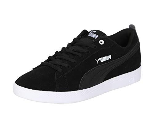 PUMA Damen Smash WNS v2 SD Sneaker, Black Black, 38 EU