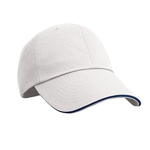 Result - Casquette à Rebord en Contraste - Adulte Unisexe (Taille Unique) (Blanc/Bleu Marine)