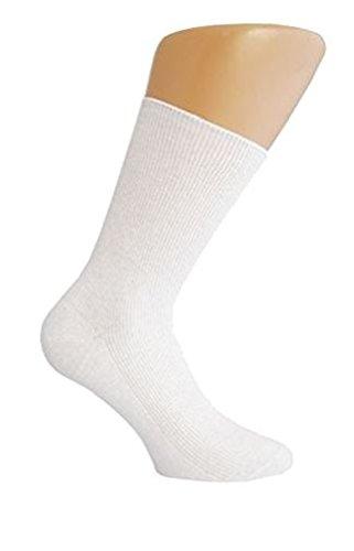 Star Socks Germany 10 Paar schwarze Socken ohne Gummi (43-46, Weiß)