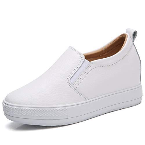 Mocasines de Mujer Ligeros Ocasionales de Color sólido Zapatillas Bajas de tacón Oculto Señoras Transpirables Slip on Platform Zapatos de cuña