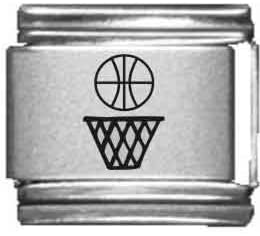 Basketball Laser Surprise Free shipping anywhere in the nation price Italian Charm