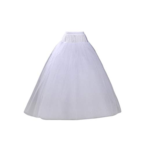 JERKKY Petticoat 1 Stück 4-lagig Hoop-Free Long Style Halbrock Petticoat Brautkleid Gefüttert Damen Damen Party Kleider Rollenspiel Futter