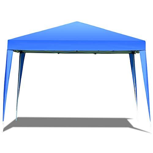RELAX4LIFE Faltpavillon Oxford, Gartenpavillon Faltbar, Pavillon inkl. Tragetasche, Faltzelt Farbwahl, Partyzelt Wasserabweisend, Gartenzelt UV-Schutz, 3 x 3 x 2,5 m, Blau (Blau)