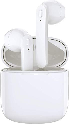 Ttkgyoe - Auricolari wireless Bluetooth 5.0, con mini custodia di ricarica, TWS, auricolari stereo Bluetooth con cancellazione del rumore, senza fili, con microfono, impermeabilità IPX7, colore: nero