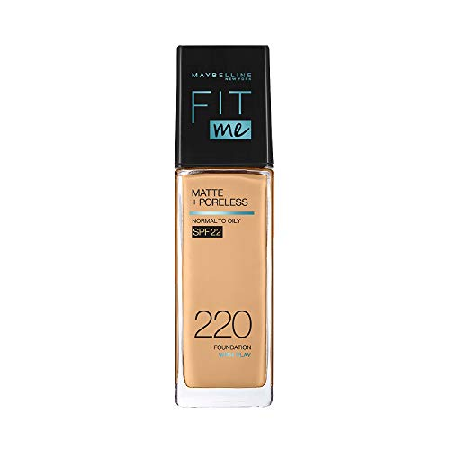 Maybelline New York Fit Me Matte+Poreless Liquid Foundation (With Pump...