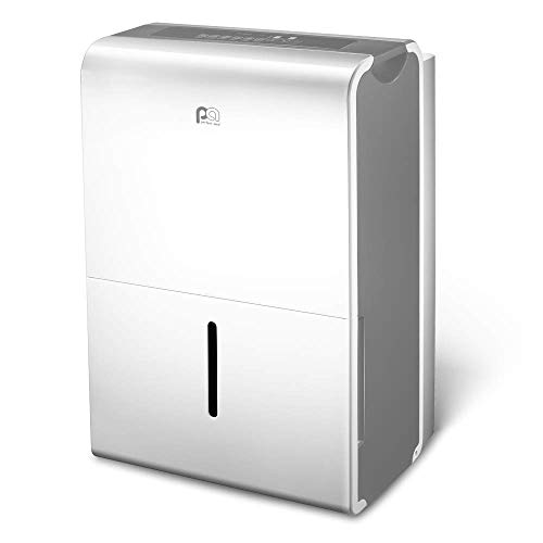 PerfectAire 1PFD50 50-Pint Energy Star Dehumidifier for Large to Extra-Large Spaces, Gray — Reduces, Prevents Moisture and Allergens