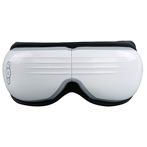 Massager De Ojos con La Presión del Aire De Calefacción, Vibración Musical, Terapia De Ojo Plegable Recargable Masajeador Visual para Aliviar Cepa De Ojos Círculos Oscuros Bolsos De Ojo Secos