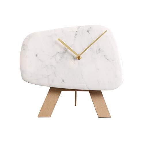 LYM $ Reloj Despertador Digital Reloj de Escritorio Reloj de mármol Simple Sala de Estar Creativa Moderna Reloj de Mesa Personalidad Reloj de Mesa mesita de Noche Reloj silencioso